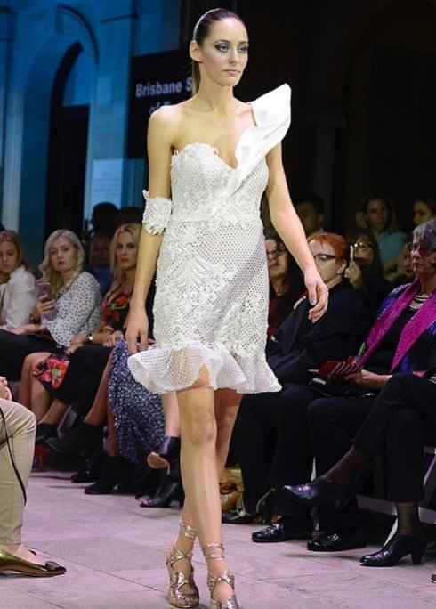 A Nardia Pannettiere Dress at Mercedes Benz Fashion Festival 2017